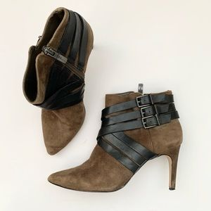 BCBGeneration Bg Zing Olive Suede Booties